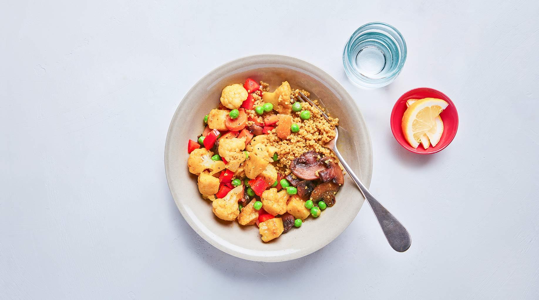 Aloo Gobi Quinoa Bowl